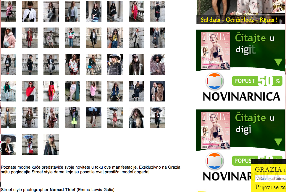 Grazia screenshot Day 1&2
